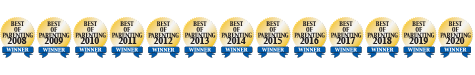 "Image containing the ""Best of Parenting Winner"" Seals from 2008 through 2020"