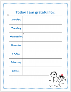 teaching gratitude chart academy preschools nashville
