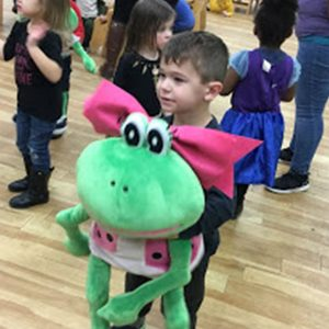 Fannie Frog Visits Franklin Child Care Centers